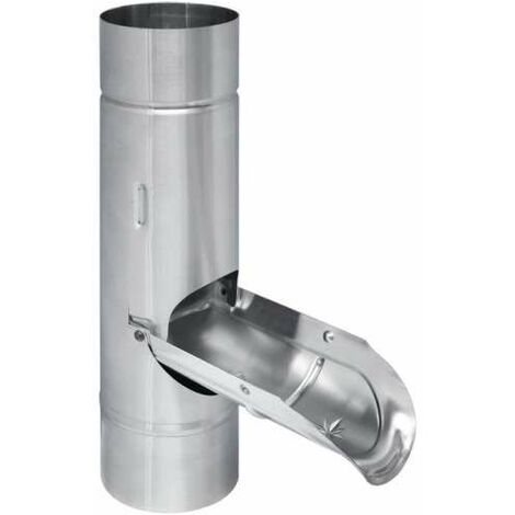 TITANZINK Regenwasserklappe mit Griff und Edelstahlsieb 80mm Regenrohrklappe
