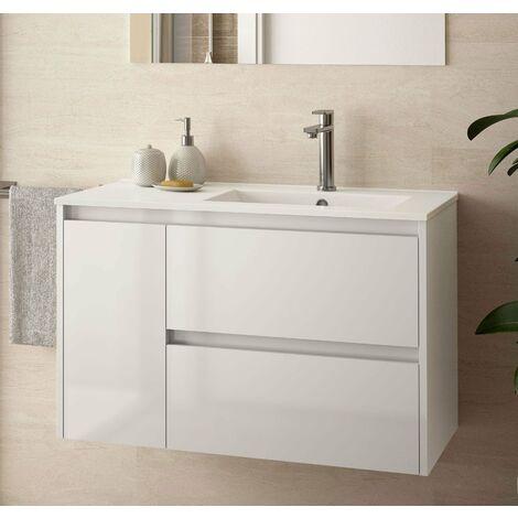 SALGAR 85066 NOJA 855 Mueble+Lavabo Blanco Brillo