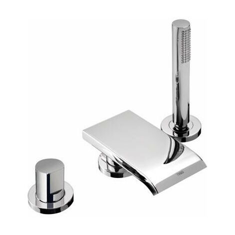 MAX-TRES 06116101 Grifo Bañera de Repisa con caño Cascada y Ducha Antical