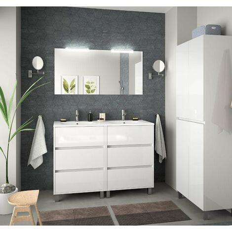 SALGAR 85146 ARENYS Conjunto Mueble 120 Blanco Brillo