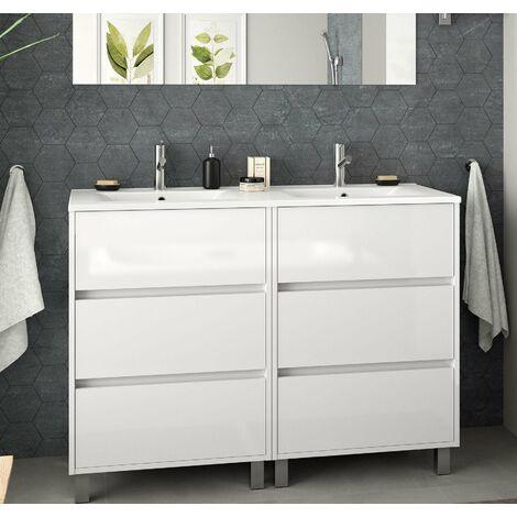 SALGAR 85150 ARENYS Mueble+Lavabo 120 Blanco Brillo