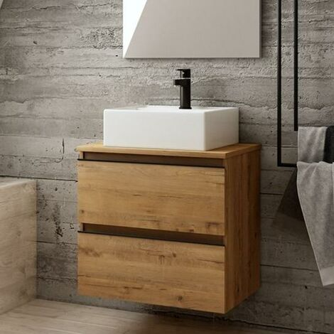 BATHME MADISON SQUARE Mueble+Lavabo Roble Ostippo - Medida: 60 CMS
