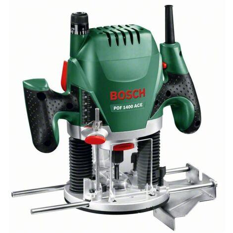 Bosch Défonceuse POF 1400 ACE dans un coffret avec lampe de travail 1.400 watts