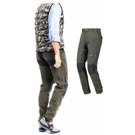 TRIUSO patta Pantaloni Nero Mis 42-68 Lavoro Lavoro Pantaloni Pantaloni patta ABBIGLIAMENTO PROFESSIONALE