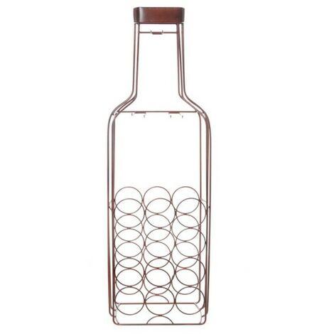 Cantinetta 12 Bottiglie 5 Bicchieri Cm 34 cm misure 5X102X18,5 Colore Marrone