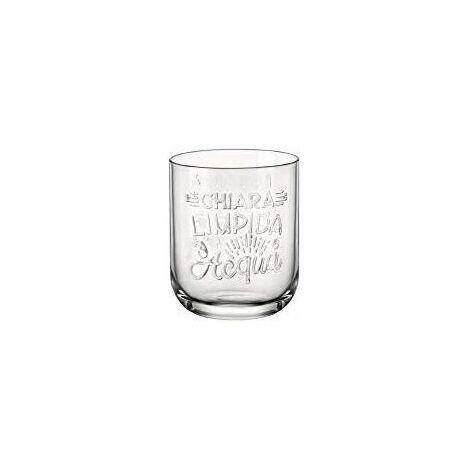 Bormioli Confezione 6 Bicchieri Graphica Acqua