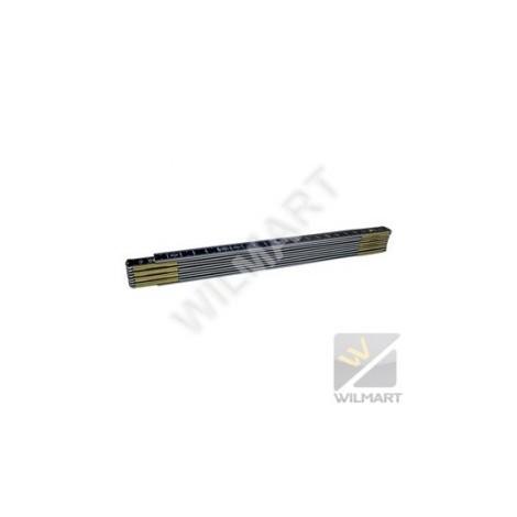 Double mètre aluminium noir ineffaçable 0622 21