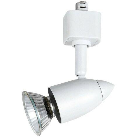 Foco orientable LEN GU10 aluminio blanco para rail CRISTALRECORD 63-361-50-100