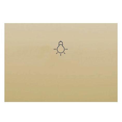 Tecla pulsador serigrafía de bombilla DORADO PERLA BJC Coral 21717-DP