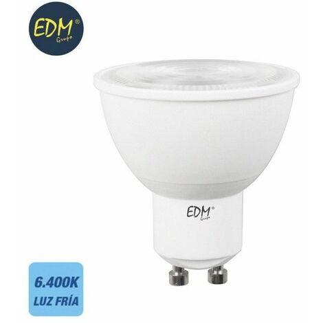 Bombilla dicroica gu10 smd 550 lumens 7w apertura 120º 6400k luz fria EDM 98253