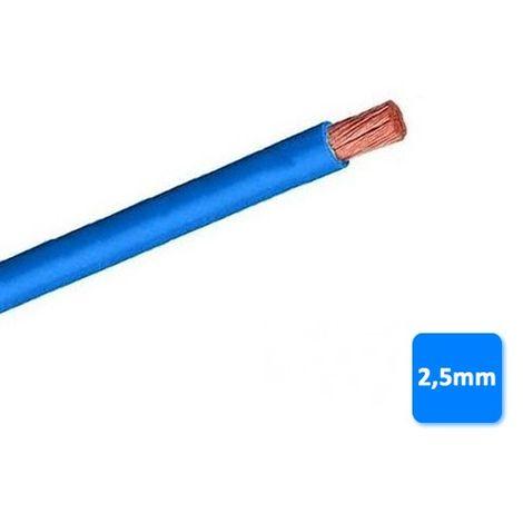 Cable libre de halógenos 2,5mm azul POR METROS H07Z1-K AS 750V