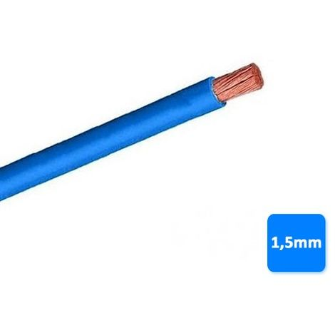 Cable libre de halógenos 1,5mm azul POR METROS H07Z1-K AS 750V