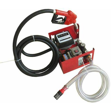 Varan Motors - NEEP-02-2 BOMBA AUTOCEBANTE PARA FUEL O GASOIL, 230V 60L/MIN - 550W CON PISTOLA BLOQUEO AUTOMÁTICO - Rojo