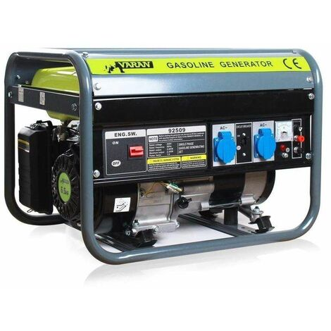 Varan Motors - 92509 Grupo electrógeno de gasolina 2200W 2 x 230V 1 x 12V generador eléctrico - Gris
