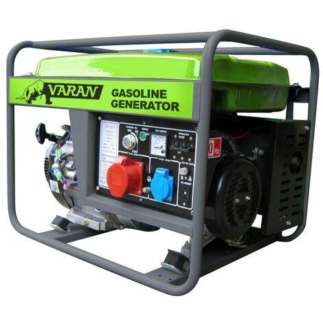 Varan Motors - 92521 Generador eléctrico gasolina 7.0 kVA 1x 400V 1x 230V 1x 12VDC - Gris