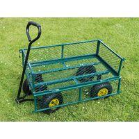 Varan Motors - TC1840A-2 Carro de transporte carretilla de mano de jardin construccion max 200kg - Verde