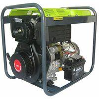Varan Motors - 92611 Generador eléctrico diésel 5.0kVA, 1 x 400V, 1 x 230V, 1 x 12VDC - Gris