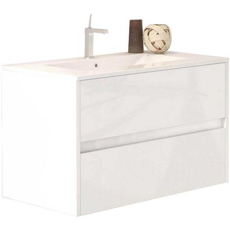 LERMA Mueble de baño blanco 80 cm