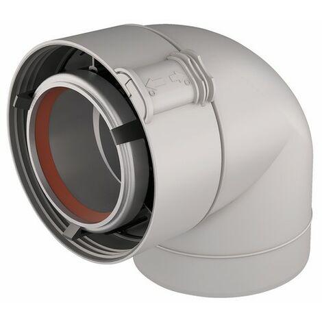 Codo 90° aluminio/PVC blanco UBBINK 227521 - UBBINK : 229521