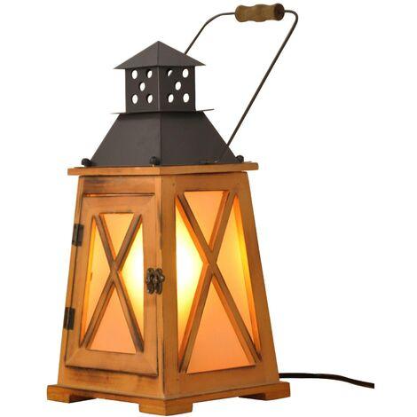 "Lámpara de mesa farol de madera ""GOBEL"""