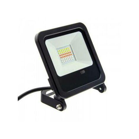 Foco proyector LED RGB 50W con mando IP65