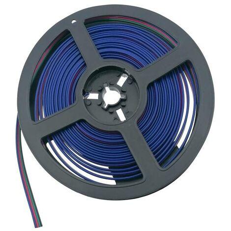 Cable RGB conector para Tiras LED RGB 12-24V   6 metros