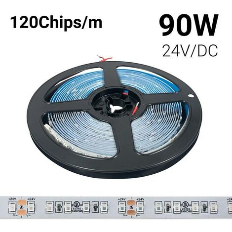Tiras LED de colores 24V-DC 90W monocolor IP20 Rollo 5 metros | Rosa