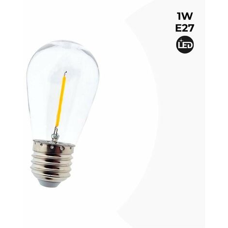 Pack 20 Bombillas LED E27 1W Transparente | Ambar