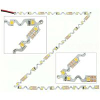 Tira de LED 12V-DC 36W 6mm Zig Zag IP20 (SMD2835 60ch/m) Rollo 5 metros | Blanco Frío