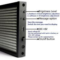 Letrero LED monocolor 1300x95mm WIFI / USB