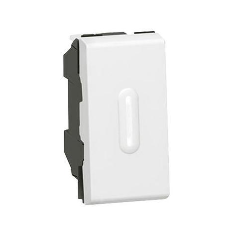 Interrupteur ou va-et-vient à voyant 10AX 250V~ Mosaic 1 module - blanc