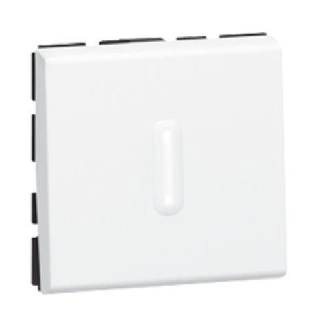 Interrupteur ou va-et-vient à voyant 10AX 250V~ Mosaic 2 modules - blanc