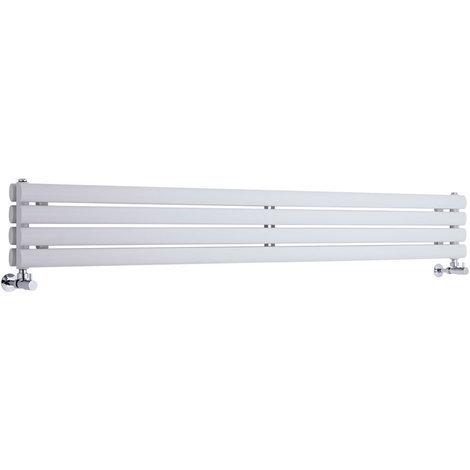 Radiador de Diseño Horizontal Doble - Blanco - 236mm x 1600mm x 56mm - 814 Vatios - Revive