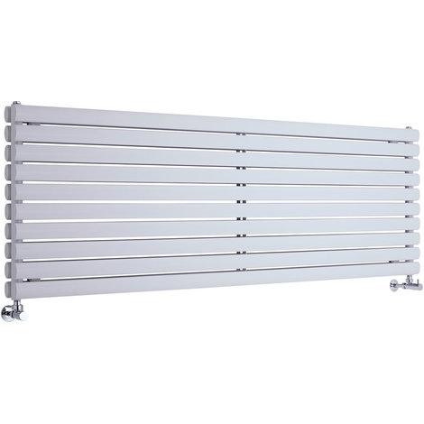 Radiador de Diseño Horizontal Doble - Blanco - 590mm x 1780mm x 78mm - 2066 Vatios - Revive