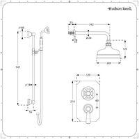 Conjunto de Ducha con Llave Mezcladora Termostática Tradicional de 2 Funciones con Alcachofa y Ducha de Mano