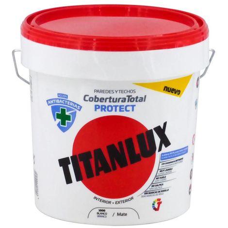 Pintura Blanca Antibacterias Cobertura Total Protect Titanlux   4 L