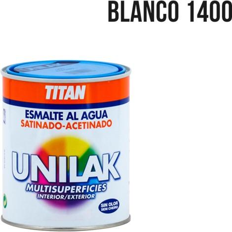 Esmalte al agua Unilak satinado | 4 L - 1400 Blanco