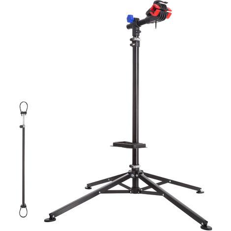 Support de Montage Vélo, Pied d'Atelier d'Entretien de Réparation Charge 25 kg Réglable Pliable 85 cm x 85 cm x 200 cm