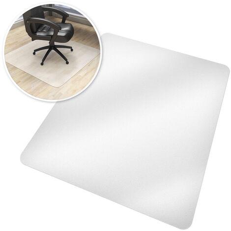 Tapis de Bureau Rectangulaire Blanc Transparent 90 cm x 120 cm en Plastique