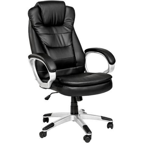 Chaise de bureau, Fauteuil de bureau, Siège de bureau Hauteur réglable, Pivotante Double Rembourrage Epais Noir