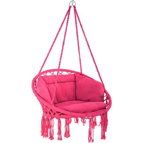 Fauteuil suspendu GRAZIA - hamac chaise, hamac suspendu, chaise suspendue - rose vif