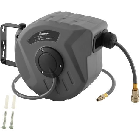 Enrouleur automatique de tuyau d'air comprimé - dévidoir, enrouleur automatique de tuyau pneumatique, enrouleur avec tuyau - 10 m