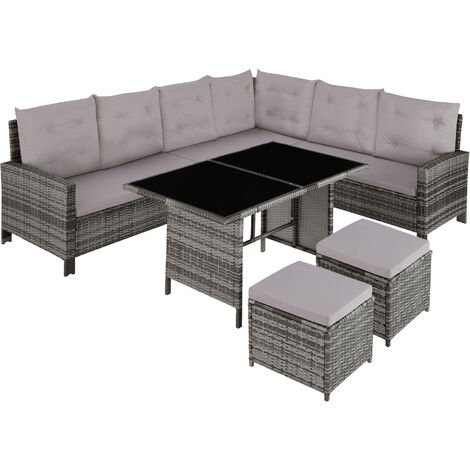 Canapé de jardin BARLETTA modulable - table de jardin, mobilier de jardin, fauteuil de jardin
