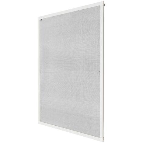 Moustiquaire pour Fenêtre Cadre en Aluminium Ajustable 80 cm x 100 cm Blanc