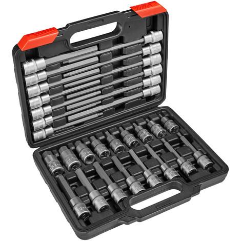 En Chrome Molybd/ène Uniquement pour utilisation /à chocs KS Tools 515.0946 Douille longue /à chocs 12 pans 1//2-14mm