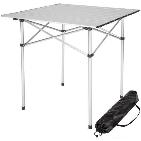 Table pliante de Camping 70 cm x 70 cm x 70 cm en Aluminium + Sac de transport