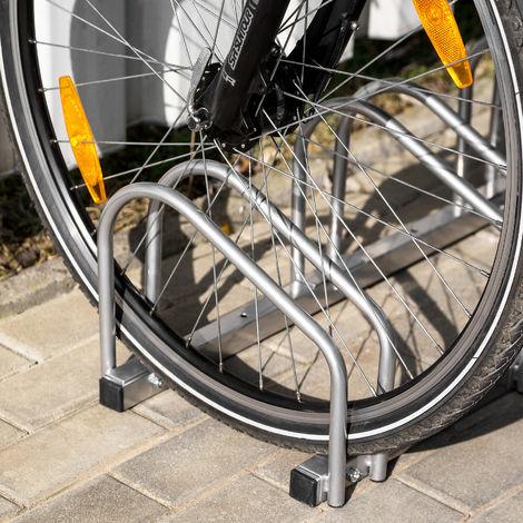 Vélo Support 3 Chromée Acier Mur Sol fahrradparker intempéries