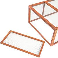 Enclos pour rongeurs 181 x 90 x 48 cm - parc d´extérieur, enclos, enclos pour petits animaux - marron