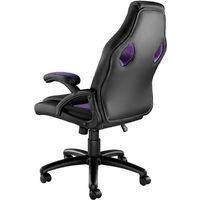 Chaise gamer MIKE - chaise de bureau, fauteuil de bureau, siege de bureau - noir/violet