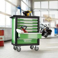 Servante d'atelier avec outils 1199 pièces - chariot à outils, desserte outils, servante outillage - vert